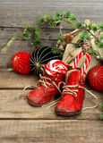 Christmas stocking. festive nostalgic decoration Stock Image
