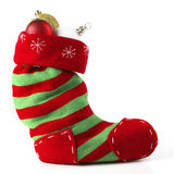 Christmas Stocking Front View With Balls Royalty Free Stock Image