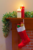 Christmas stocking full of presents Stock Image