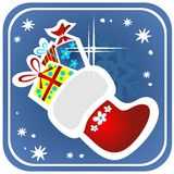 Christmas stocking with gifts Royalty Free Stock Photography