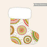 Christmas stocking for gifts Royalty Free Stock Photo