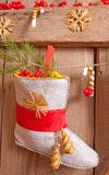 Christmas stocking hanging Stock Image