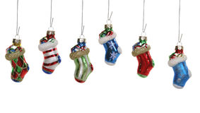 Christmas Stocking Ornaments Stock Photo