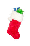Christmas stocking with presents Royalty Free Stock Photo