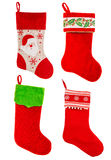 Christmas stocking. Red sock for gifts. Ornaments Stock Image