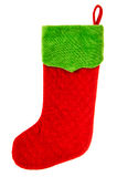Christmas stocking. red sock for Santa's gifts. winter holidays Royalty Free Stock Image