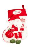 Christmas stocking with Santa Stock Photos