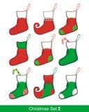 Christmas Stocking Set Royalty Free Stock Photos