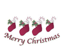 Christmas Stocking Sign 1 Royalty Free Stock Image
