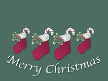 Christmas Stocking Sign 2 Royalty Free Stock Images