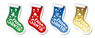 Christmas Stocking stickers. Stock Image