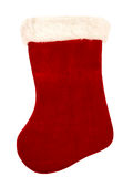 Christmas Stocking on White. Red and white  Christmas stocking shot on white Stock Photography
