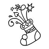 Christmas stocking  on white background. Vector illustration Royalty Free Stock Image
