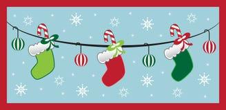 Christmas Stockings. Merry christmas candy cane stockings Stock Image