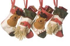 Christmas stockings. On white background Stock Photos