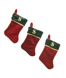 Christmas Stockings With Dollar Signs Royalty Free Stock Images