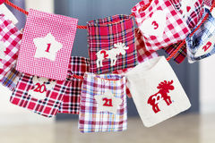 Christmas Stockings for gifts - close up Stock Photo