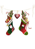 Christmas Stockings with presents Royalty Free Stock Photos