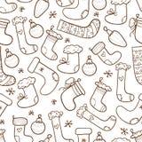 Christmas stockings seamless background Stock Photography