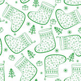 Christmas Stockings, Seamless Stock Photography