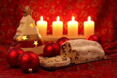 Christmas stollen Stock Photo