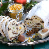 Christmas stollen Royalty Free Stock Photos