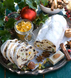 Christmas stollen Stock Images