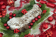 Christmas Stollen Cake royalty free stock photos