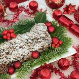 Christmas Stollen Cake royalty free stock image