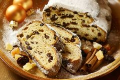 Christmas stollen Stock Image