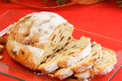 Christmas stollen the german fruit cake Royalty Free Stock Image