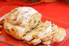 Christmas stollen the german fruit cake royalty free stock image