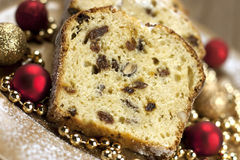 Christmas stollen with several ingredients, Selective focus Royalty Free Stock Image