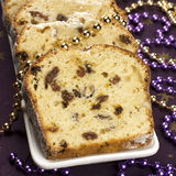 Christmas stollen with several ingredients Stock Photography
