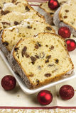 Christmas stollen with several ingredients Royalty Free Stock Photos