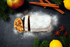 Christmas Stollen Stock Photography