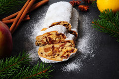 Christmas Stollen Royalty Free Stock Photo