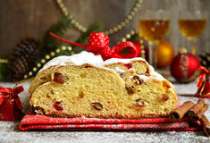 Christmas stollen. Royalty Free Stock Photos
