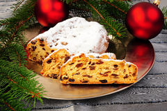 Christmas Stollen Stock Photos