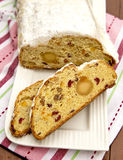 Christmas Stollen. Traditional Sweet Fruit Loaf Royalty Free Stock Image