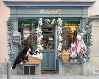 Christmas Store with toys outside. Zurich, Switzerland - November 26 2011 Christmas Store Royalty Free Stock Photo