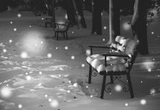 Christmas story. Deserted winter Park Royalty Free Stock Image