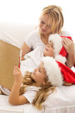 Christmas story time stock images