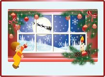 Christmas story. vector Royalty Free Stock Image