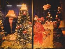 Christmas story window display stock images