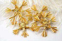 Christmas straw decoration Royalty Free Stock Photos