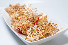 Christmas Straw Decoration Royalty Free Stock Photo