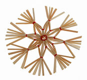 Christmas straw star Stock Image