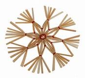 Christmas straw star Stock Image