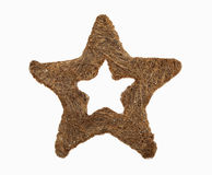 Christmas straw star Royalty Free Stock Image